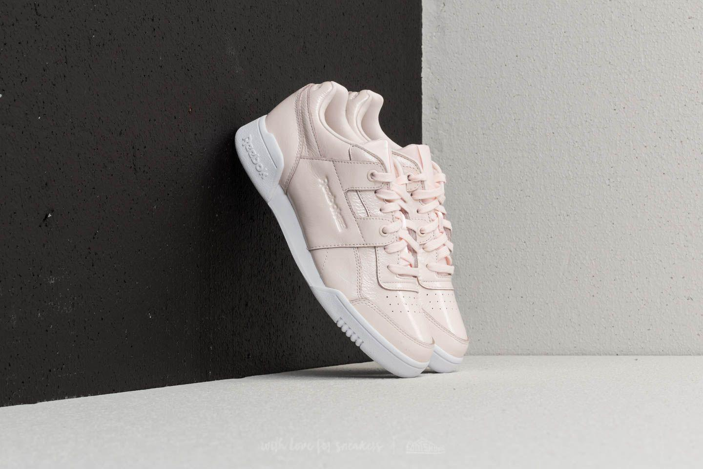 Lyst - Reebok Reebok Workout Lo Plus Iridescent Pale Pink  White in Pink 11896fa81