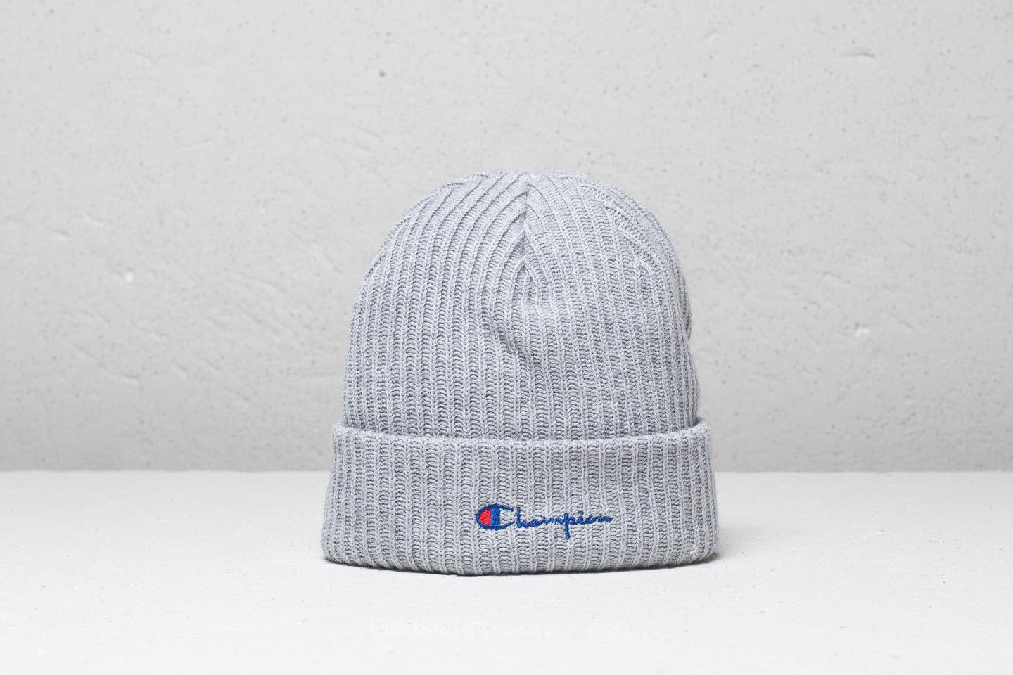 a74fce1c803ff Lyst - Champion Beanie Light Oxford Grey Melange in Gray for Men