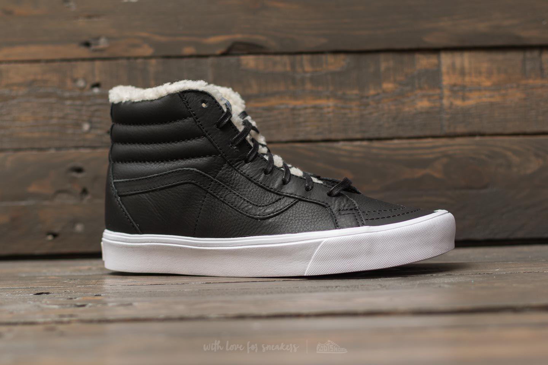 eedcfb165f Lyst - Vans Sk8-hi Reissue Lite (sherpa) Black  True White in Black ...