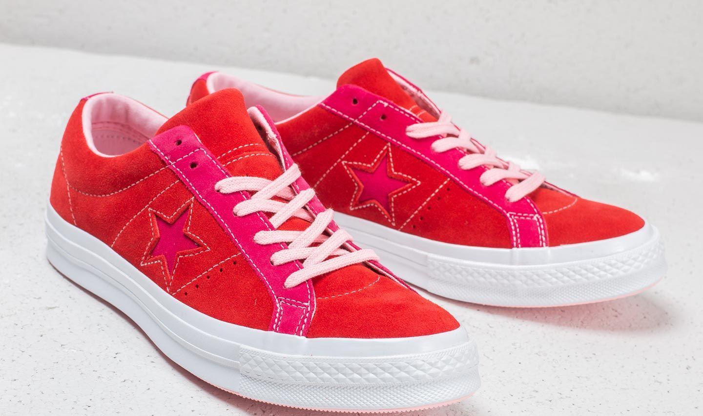 1353c5b49dbb Converse - One Star Ox Enamel Red  Pink Pop - Lyst. View fullscreen