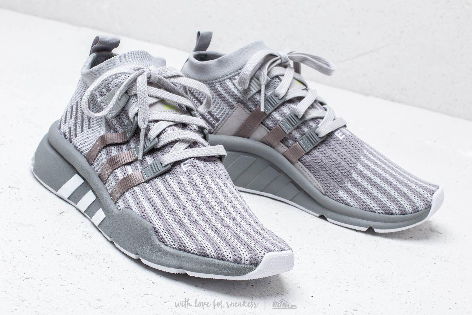 5ac8904f3fb2 Lyst - adidas Originals Adidas Eqt Support Mid Adv Primeknit Grey ...