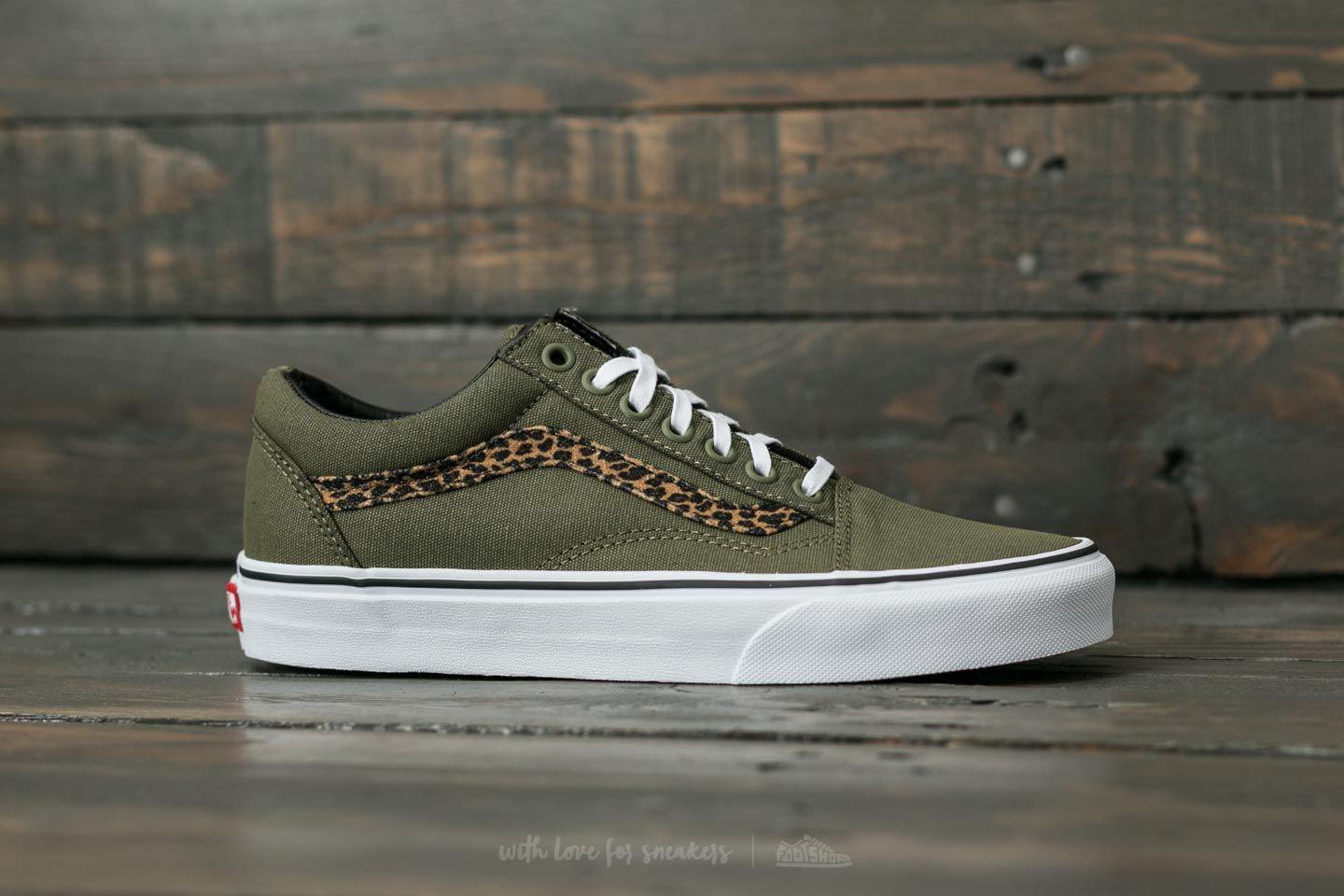 old skool vans women leopard