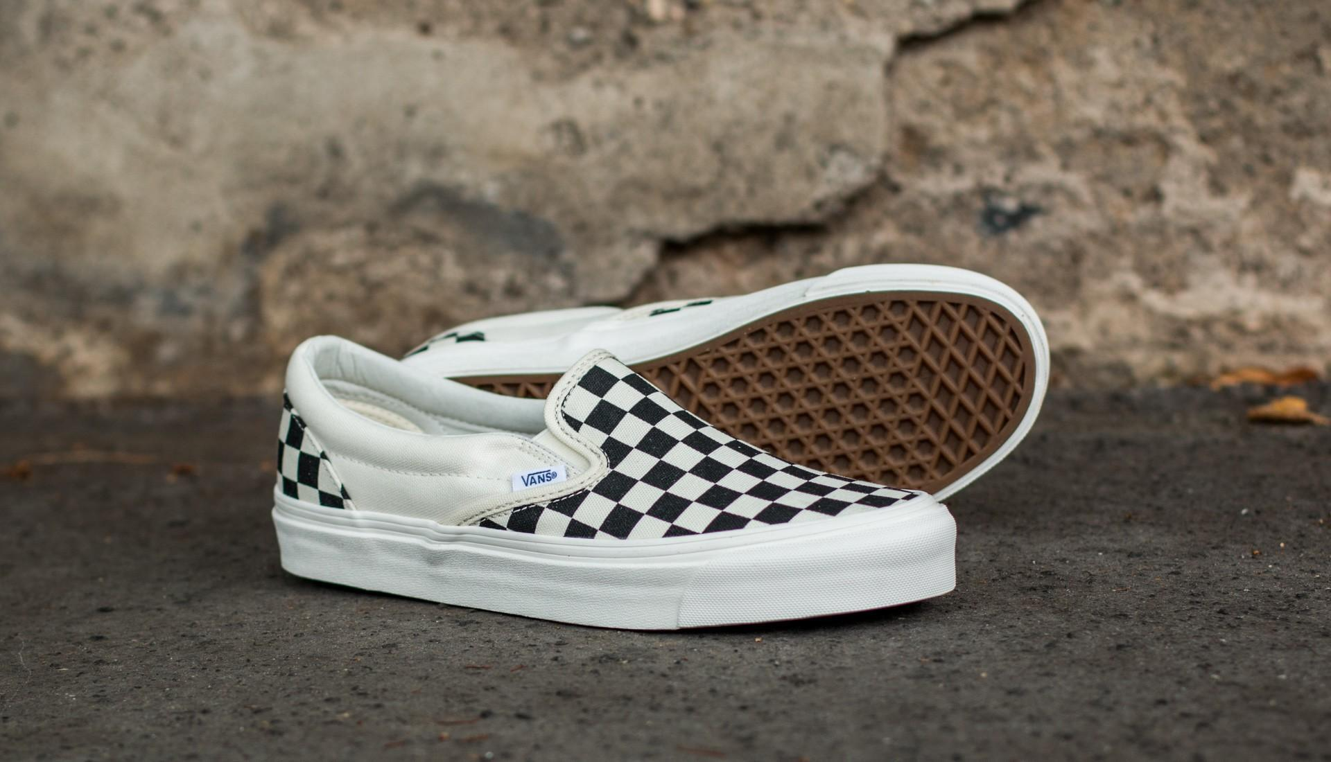 861fbf8548 Vans - Og Classic Slip On Lx (canvas) Black  White Checkerboard - Lyst.  View fullscreen