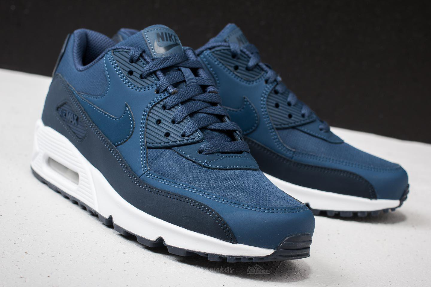 Lyst - Nike Air Max 90 Essential Obsidian  Navy-white in Blue for Men e0664263c