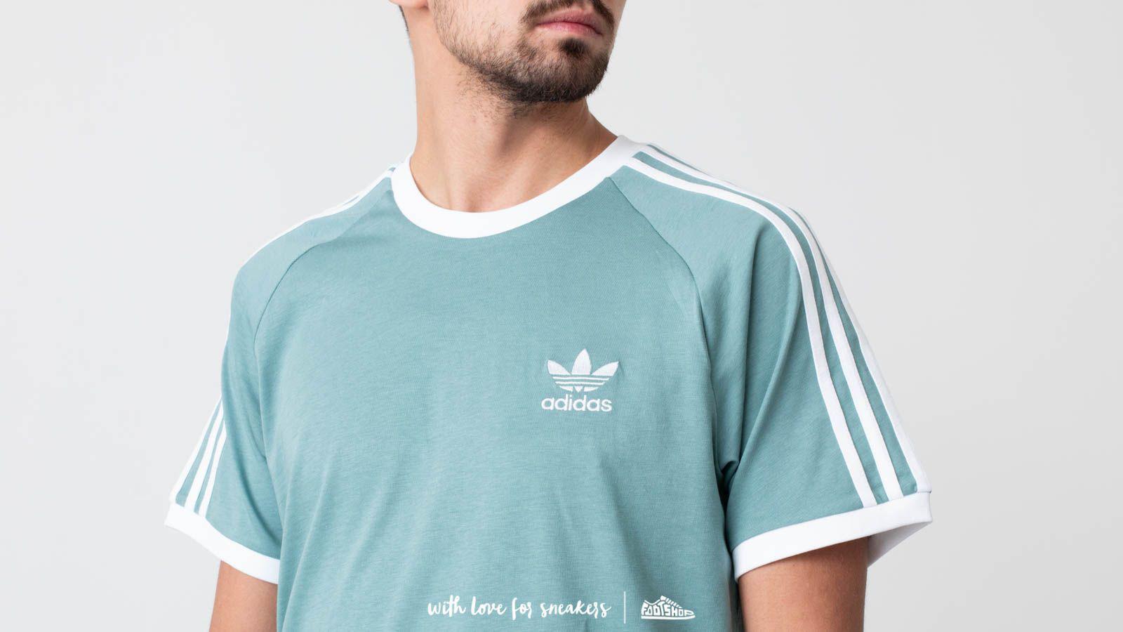 09e89816b9 adidas Originals Adidas 3-stripes Tee Vapour Steel in Blue for Men ...