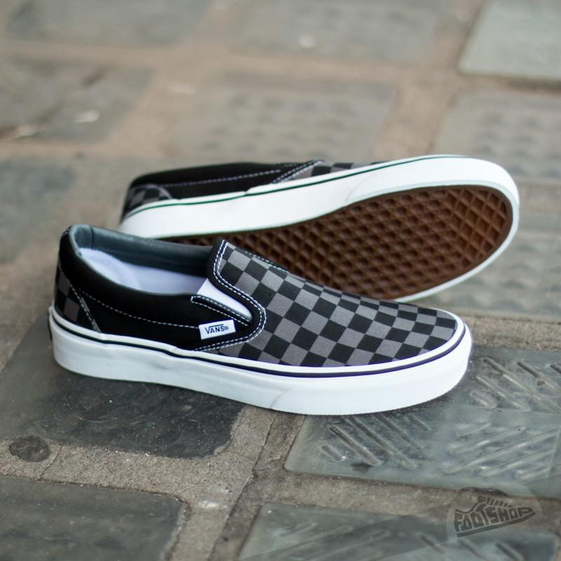 4bf6dd721ab Vans - Classic Slip-on Black  Pewter Checkerboard for Men - Lyst. View  fullscreen