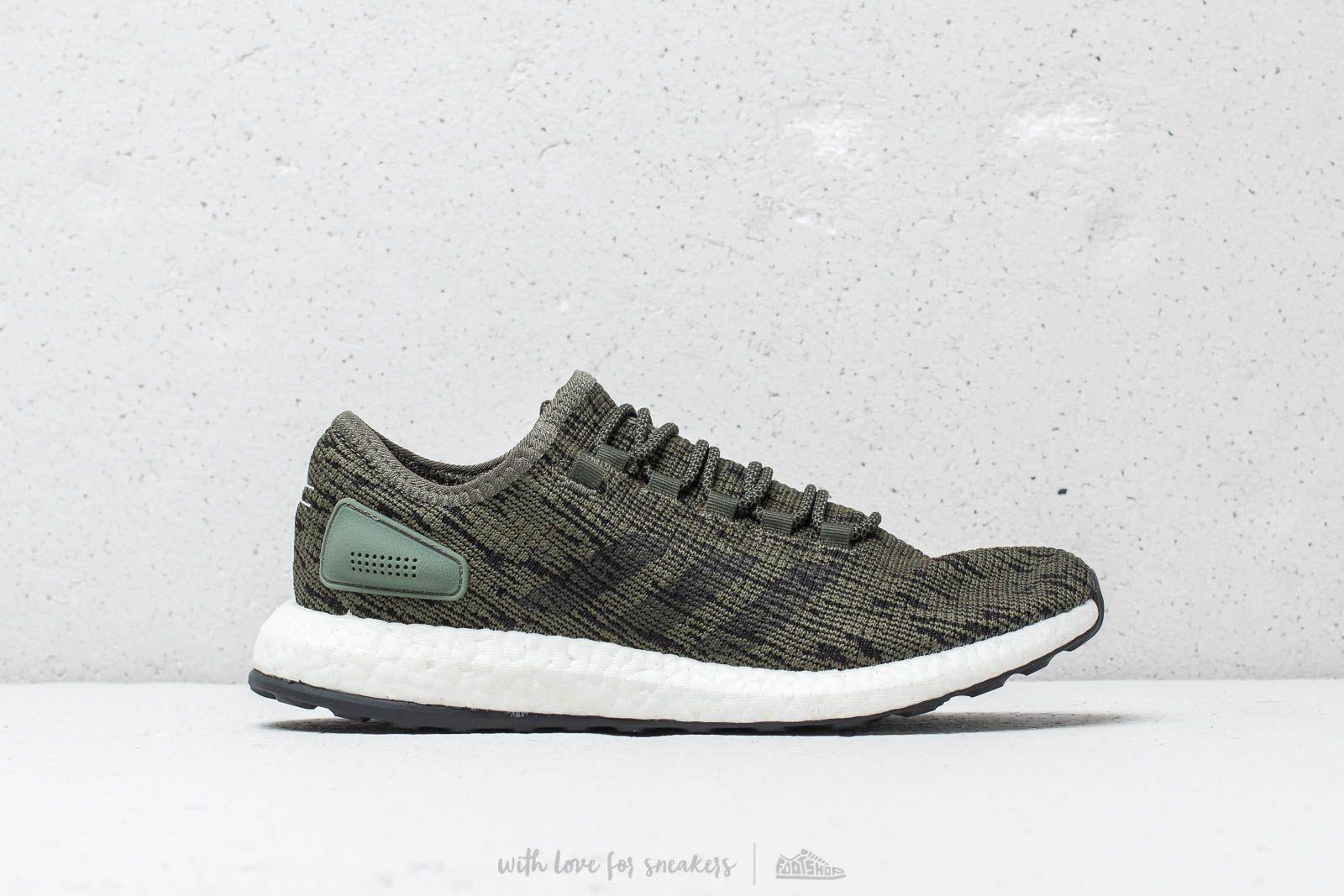 ebdadb5aa9aa7 Lyst - adidas Originals Adidas Pureboost Base Green  Core Black ...