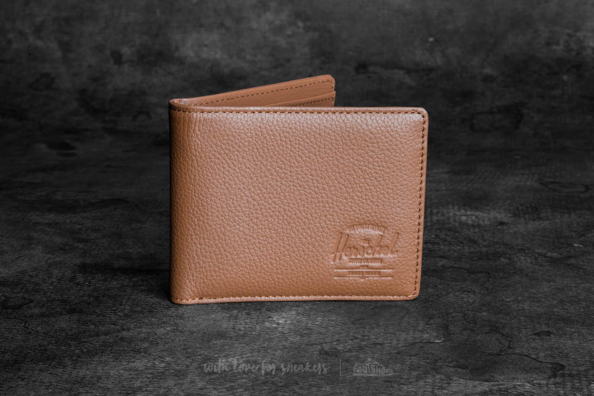 eb194cb57d9b Lyst - Herschel Supply Co. Hank Leather Wallet Tan Pebbled Leather ...