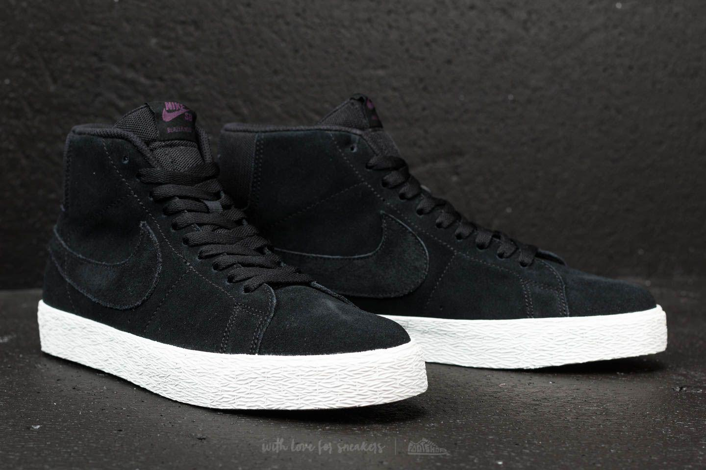 finest selection aa178 0425f ... cheapest lyst nike sb zoom blazer mid decon black black pro purple  46000 816e0