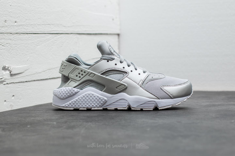 sports shoes 08bfa 4104f ... hot lyst nike air huarache run premium metallic silver in metallic for  men 06bc7 f1212