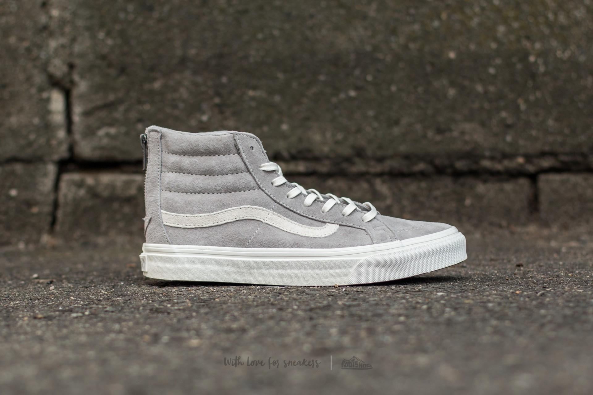 9b66ba5012 Lyst - Vans Sk8-hi Slim Zip (scotchgard) Cool Grey  Blanc in Gray