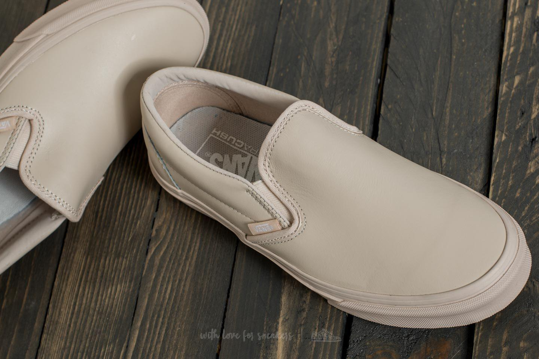 f9d101fe736b Lyst - Vans Classic Slip on D (leather) Whisper Pink  Mono