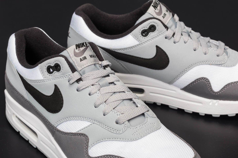 big sale 6e7b9 ce07d Nike Air Max 1 White  Black-wolf Grey-gunsmoke in Gray for Men - Lyst