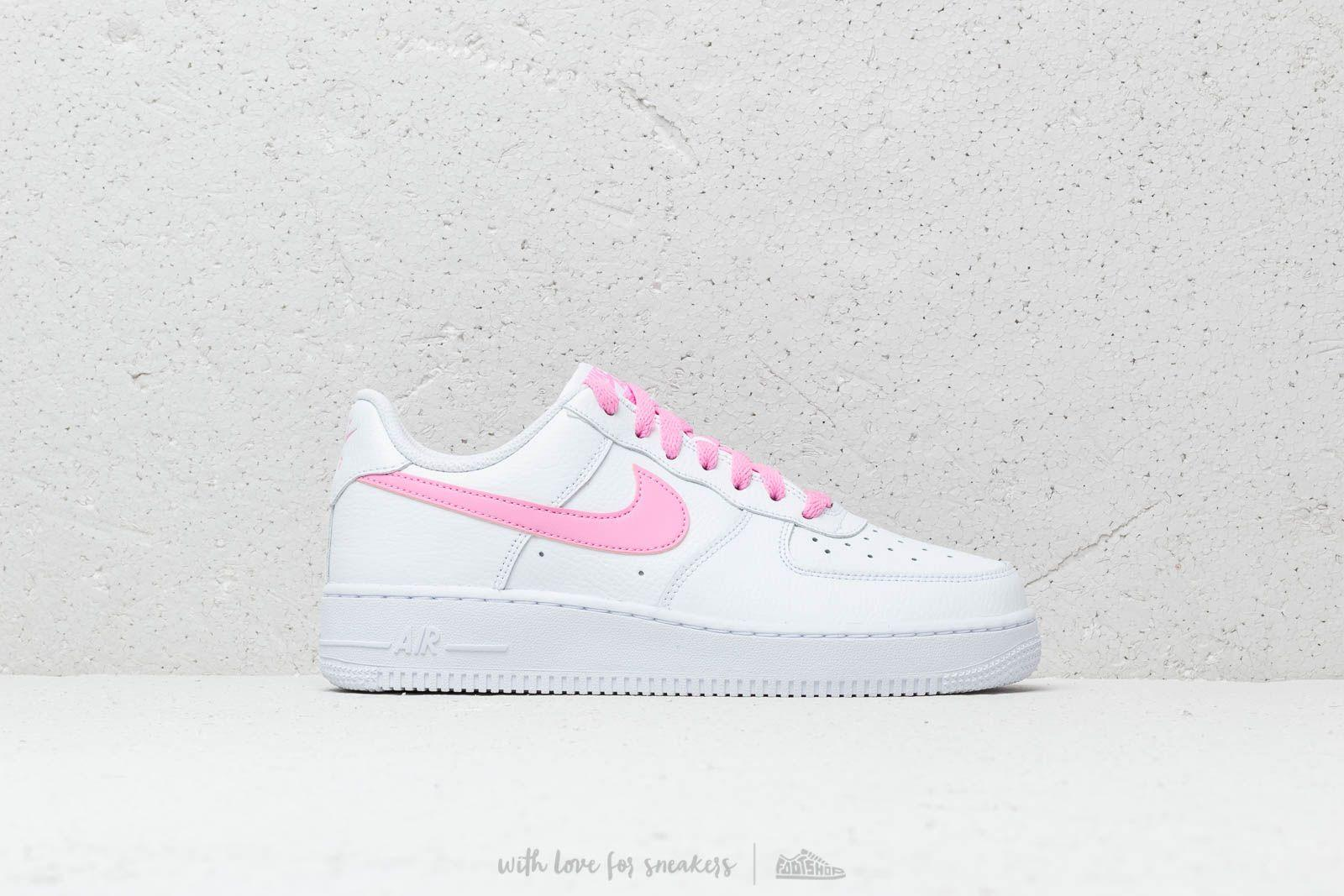 premium selection 9b333 b7fca Nike Air Force 1 07 Leather Trainers In White Psychic Pink. Gallery