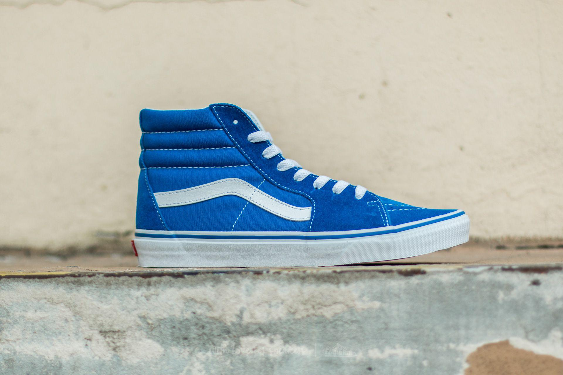 c43f2be0b4ac Lyst - Vans Sk8-hi (suede canvas) Imperial Blue in Blue for Men