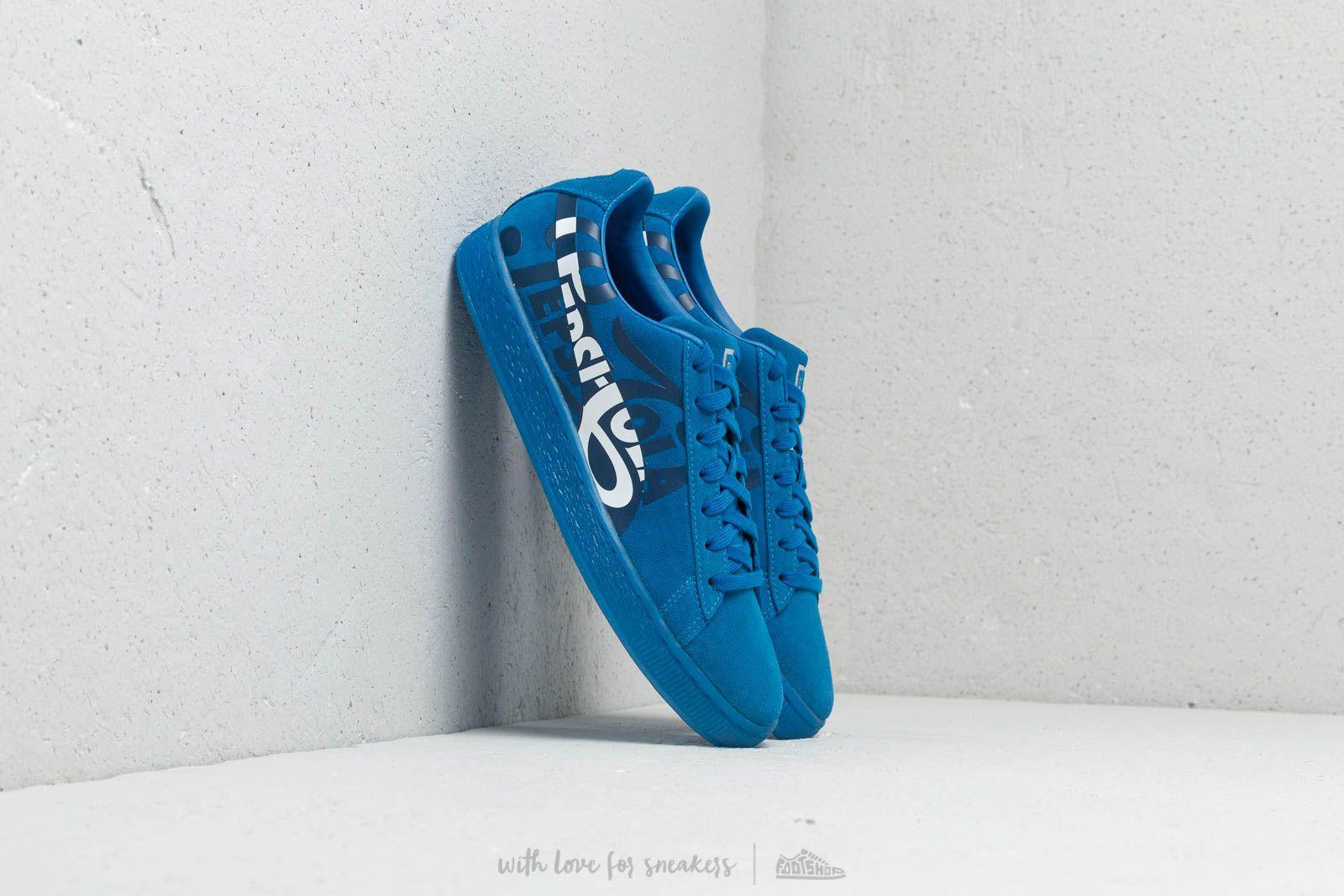88c0e22a253e39 Lyst - PUMA X Pepsi Suede Classic Clean Blue  Silver in Blue for Men