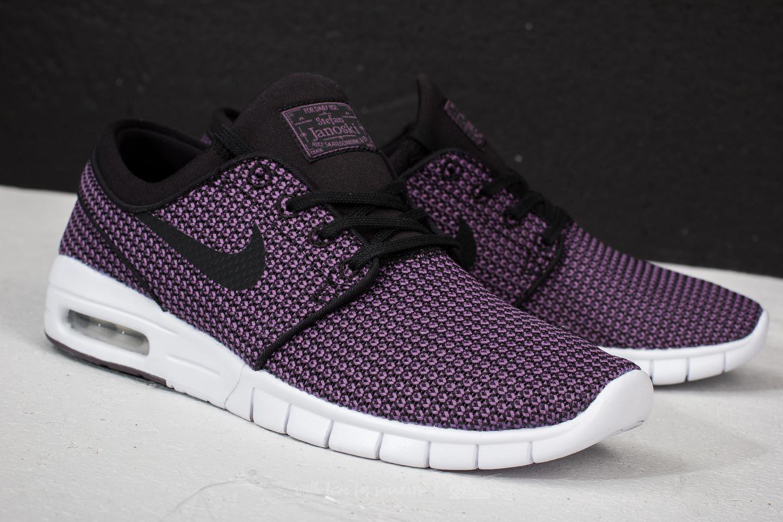 san francisco 755e2 3b519 Nike Sb Stefan Janoski Max Black  Black-pro Purple-white in Black ...