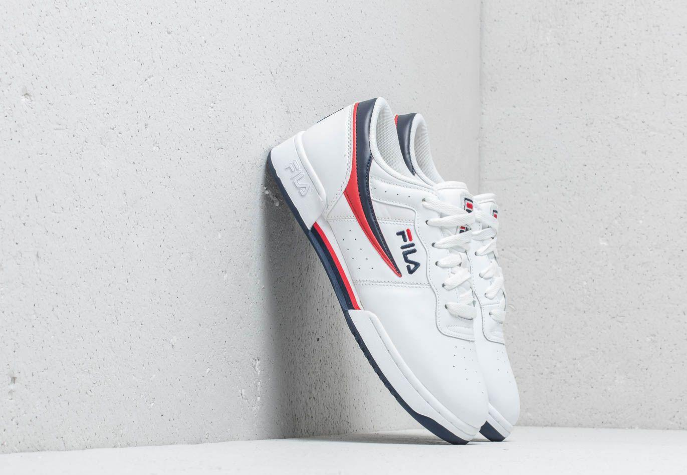 4909a5c2d2c7 Lyst - Fila Original Fitness White  Navy  Red in White for Men