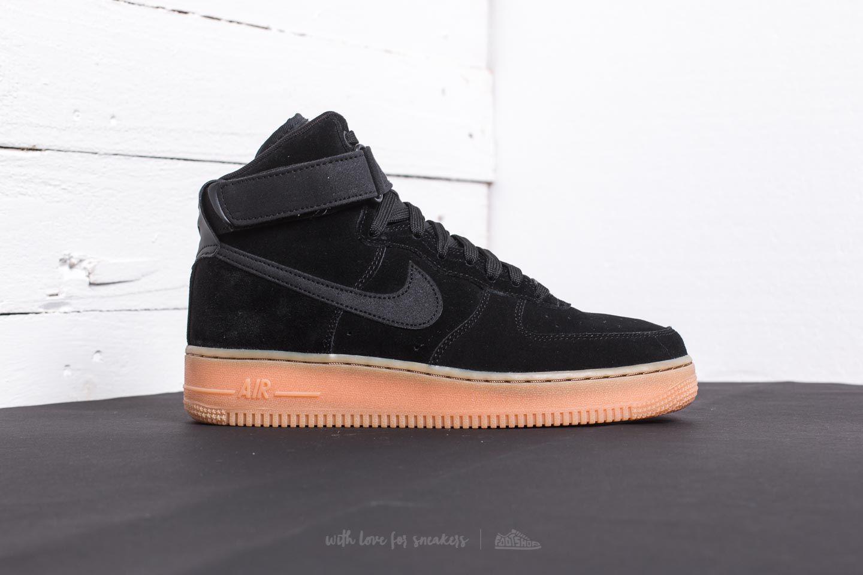 Lyst - Nike Air Force 1 High  07 Lv8 Suede Black  Black-gum Med ... a6f0349a1