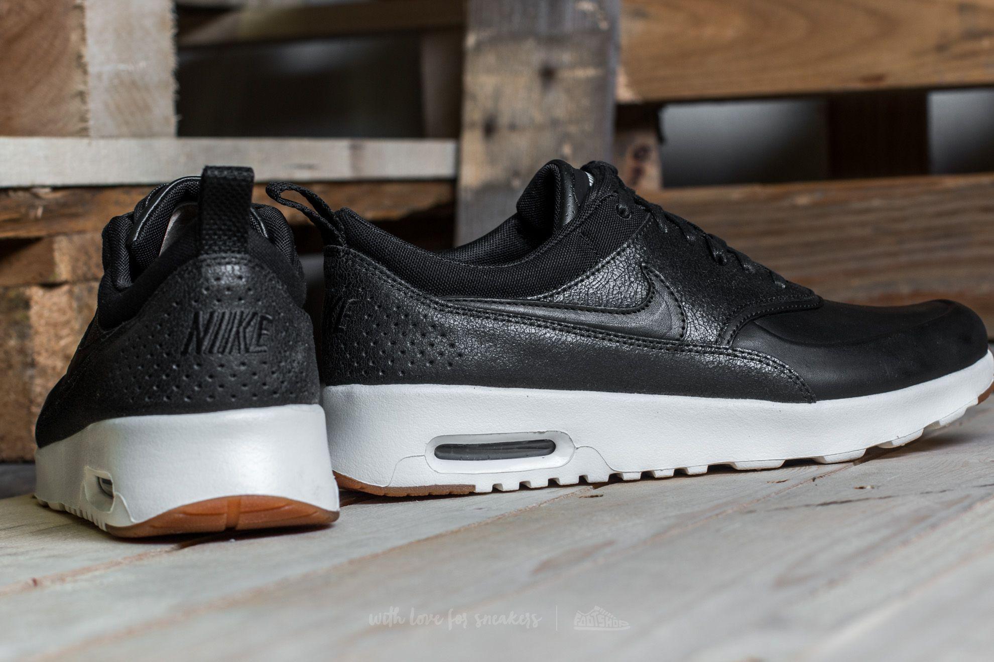685206e78e Nike Wmns Air Max Thea Premium Black/ Black-sail-gum Medium Brown in ...