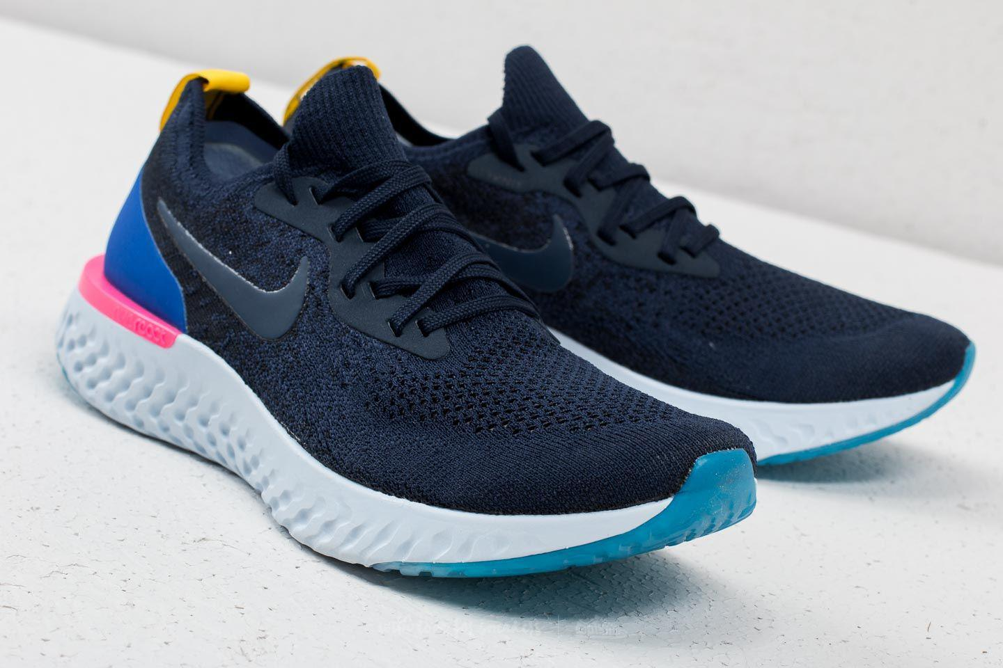 4c95437ac9f98 Lyst - Nike Epic React Flyknit College Navy  College Navy in Blue ...