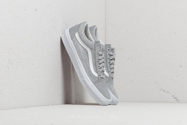 86ac67a0ae5 Lyst - Vans Old Skool (lurex Glitter) Silver  True White in Metallic