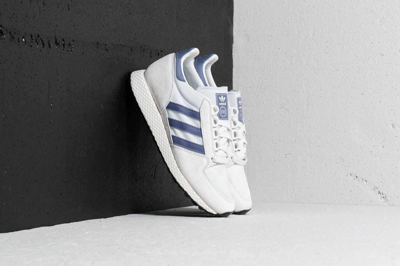 adidas Originals FOREST GROVE - Trainers - crystal white/cloud white/core black z2Qjse