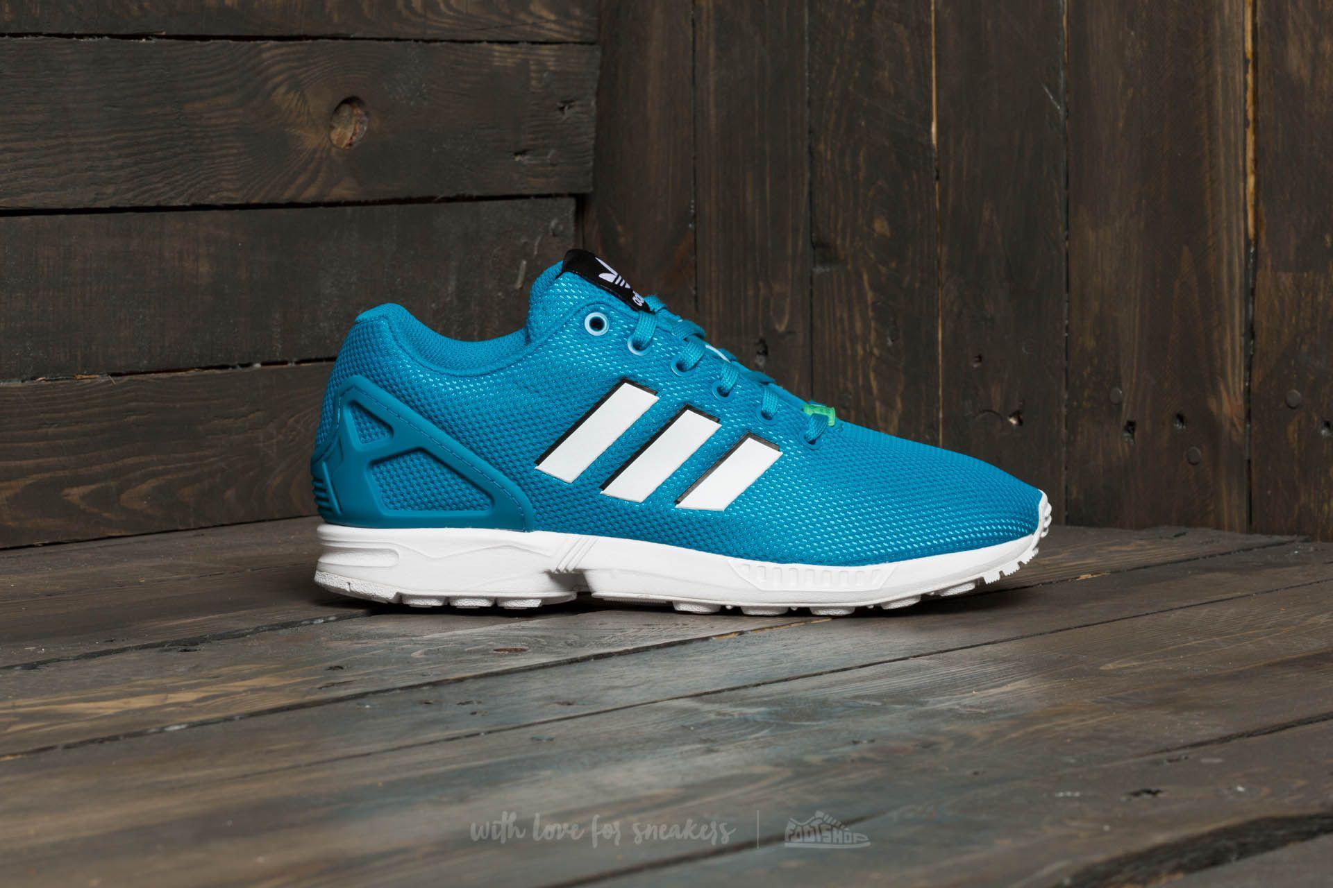 cc6094a9cc82b ... reduced lyst adidas originals adidas zx flux bold aqua footwear white  78b25 678d3