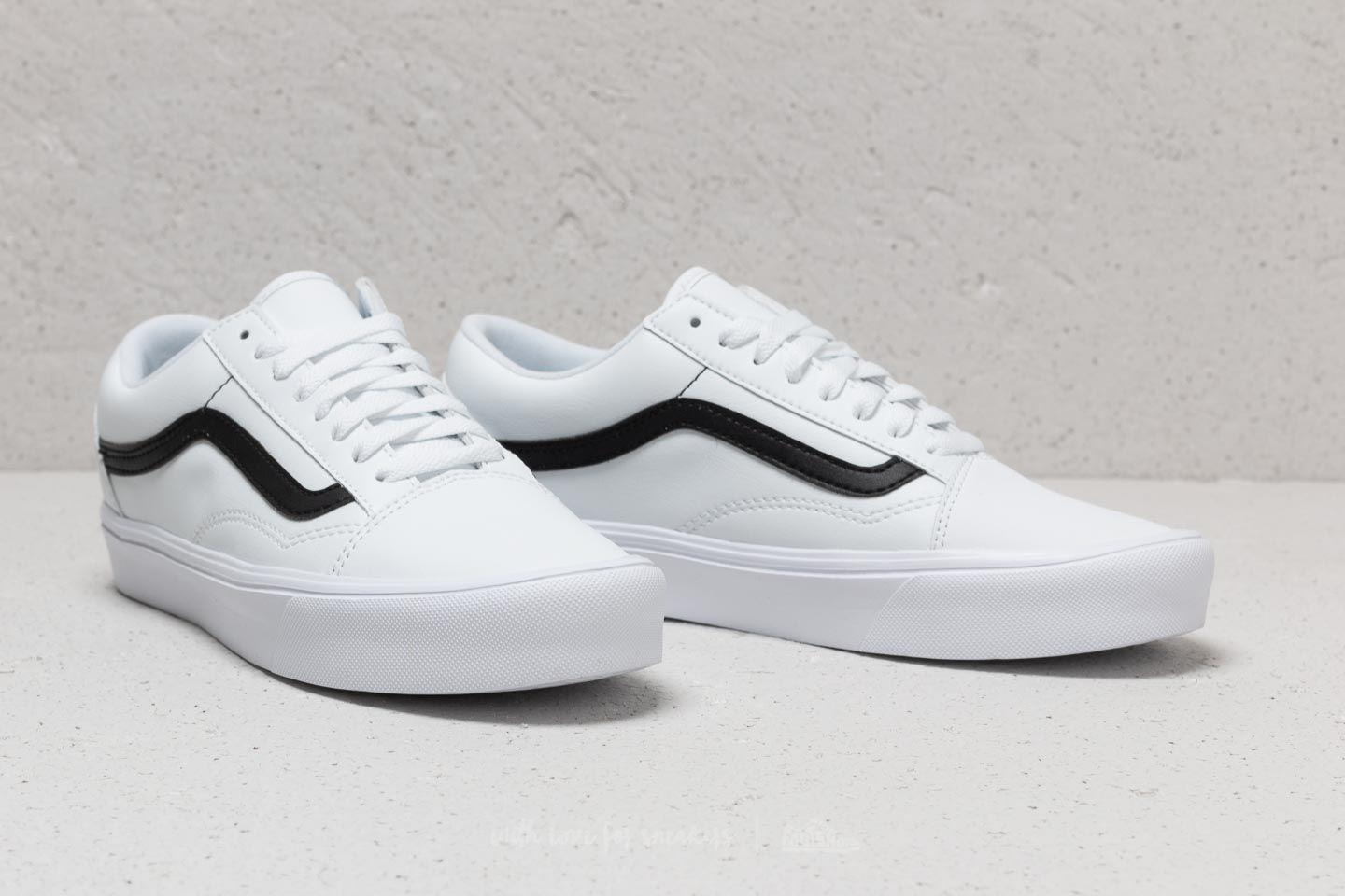 0054a3b380 Lyst - Vans Old Skool Lite (classic Tumble) True White  Black in ...