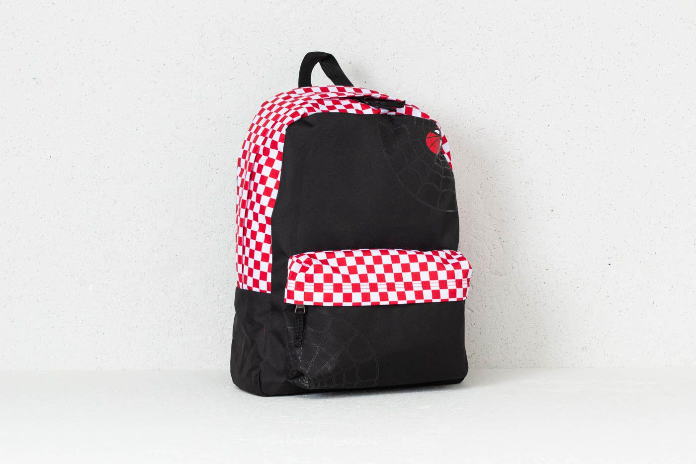 1fe4351e3ae Lyst - Vans Spidey Realm Backpack (marvel) Black  Red Checkerboard