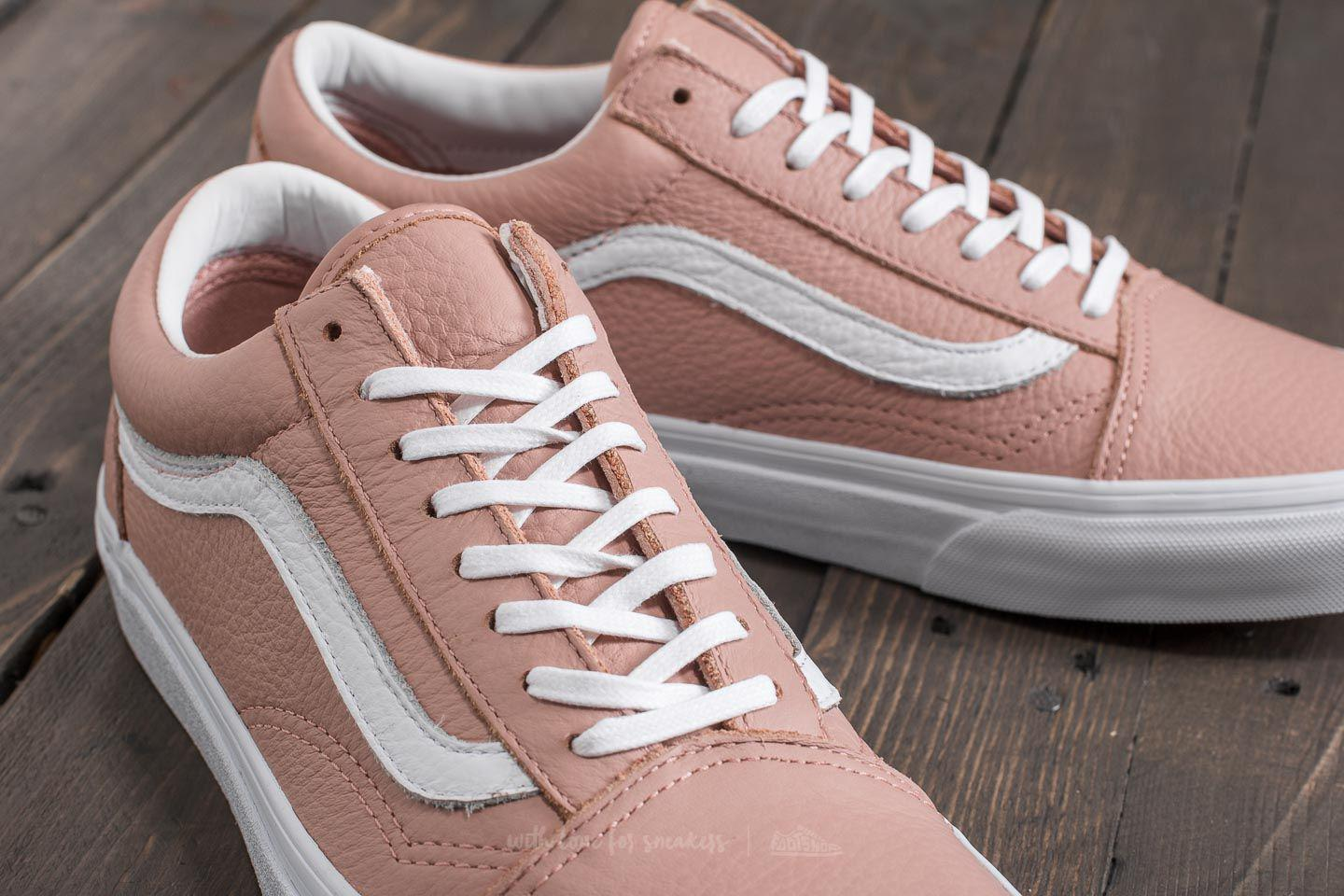 0a8c46c838a849 Lyst - Vans Old Skool Dx (tumble Leather) Mahogany Rose-true White