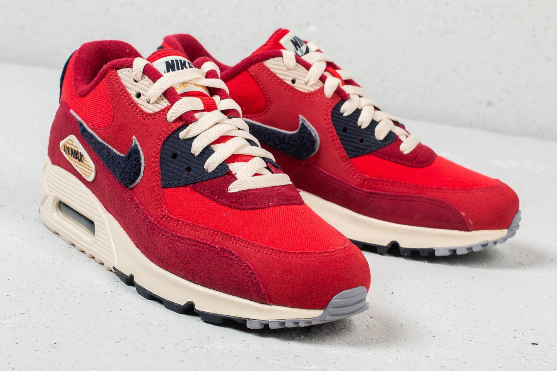 57a826e2f589 Nike - Air Max 90 Premium Se University Red  Provence Purple for Men -  Lyst. View fullscreen