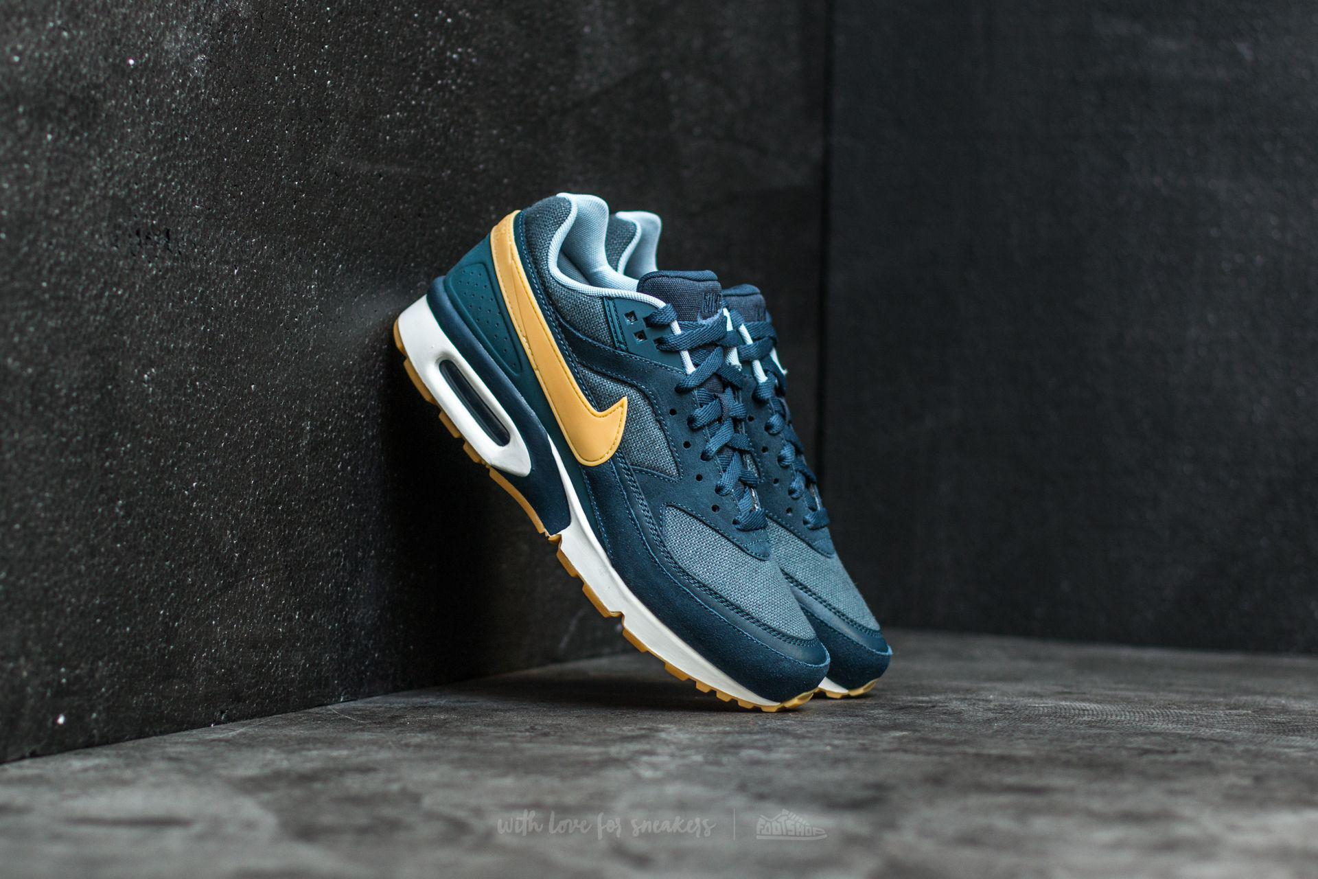 60710f4738 Nike Air Max Bw Premium Armory Navy/ Gum Yellow in Blue for Men - Lyst