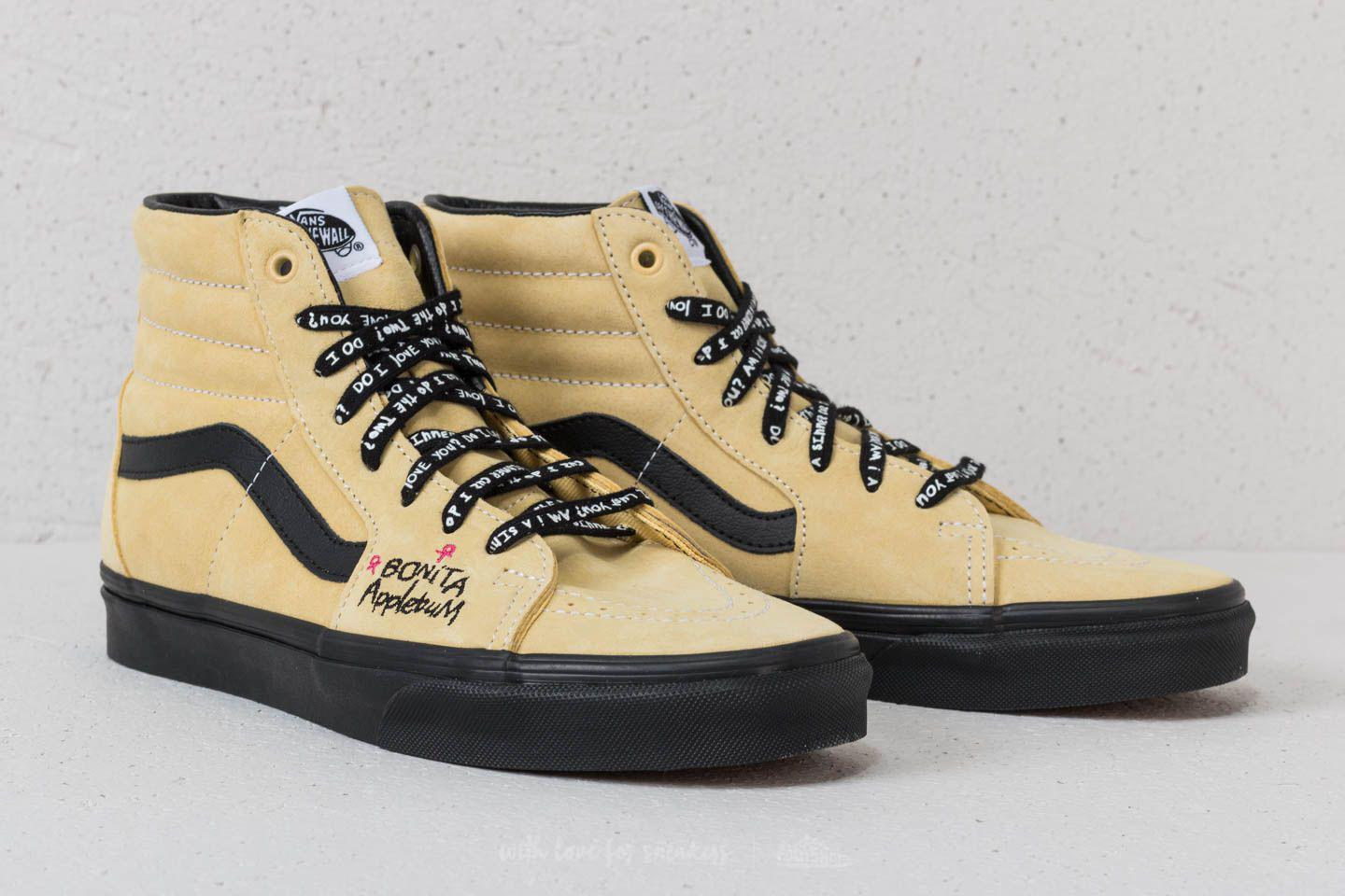 lowest price get new 100% authentic Vans Suede Sk8-hi (a Tribe Called Quest) Mellow Yellow/ Spec ...