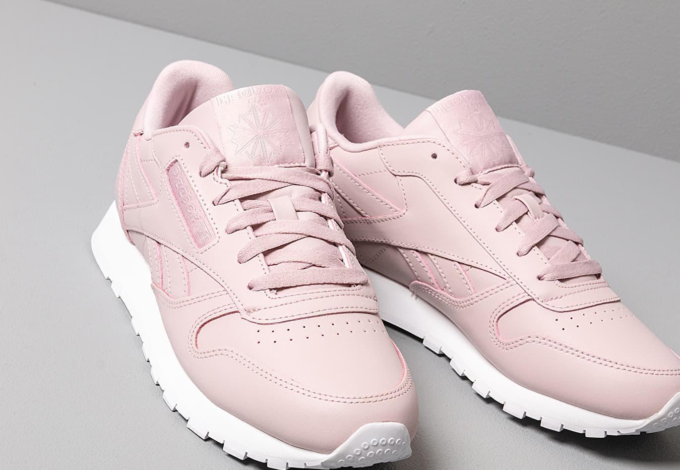 70521798ee593 Reebok - Pink Leather Ashen Lilac  White - Lyst. View fullscreen