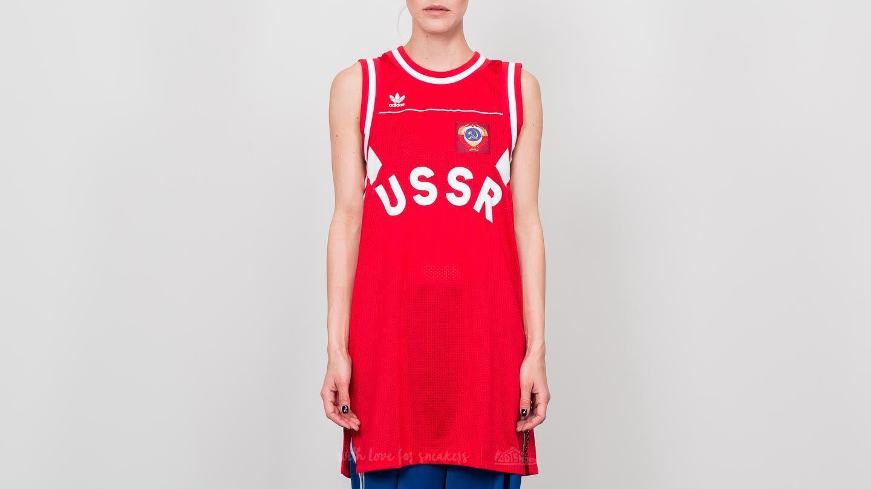 adidas Originals Womens USSR Tank Dress Scarlet