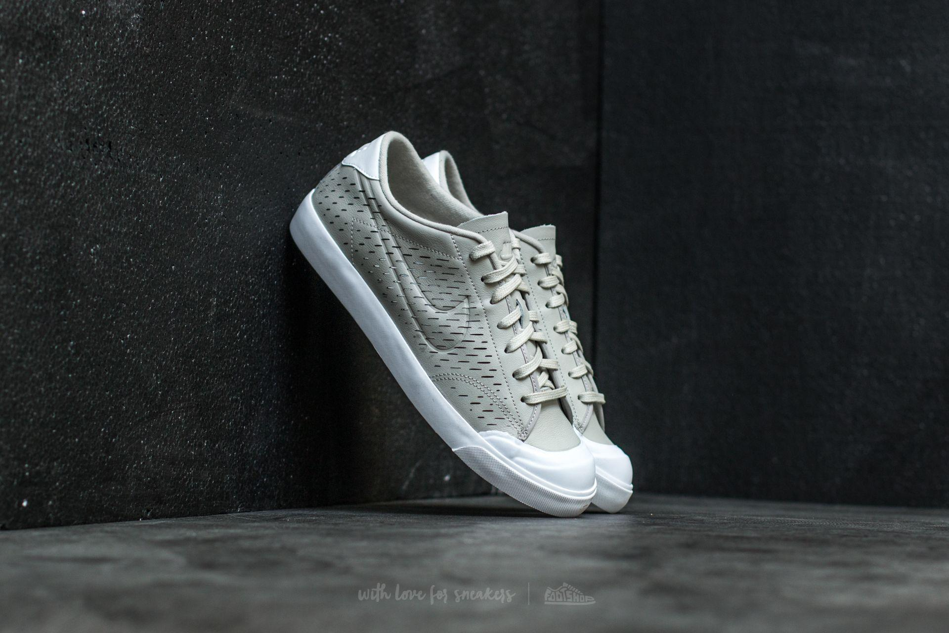 Nike. Men's Gray All Court 2 Low Leather ...