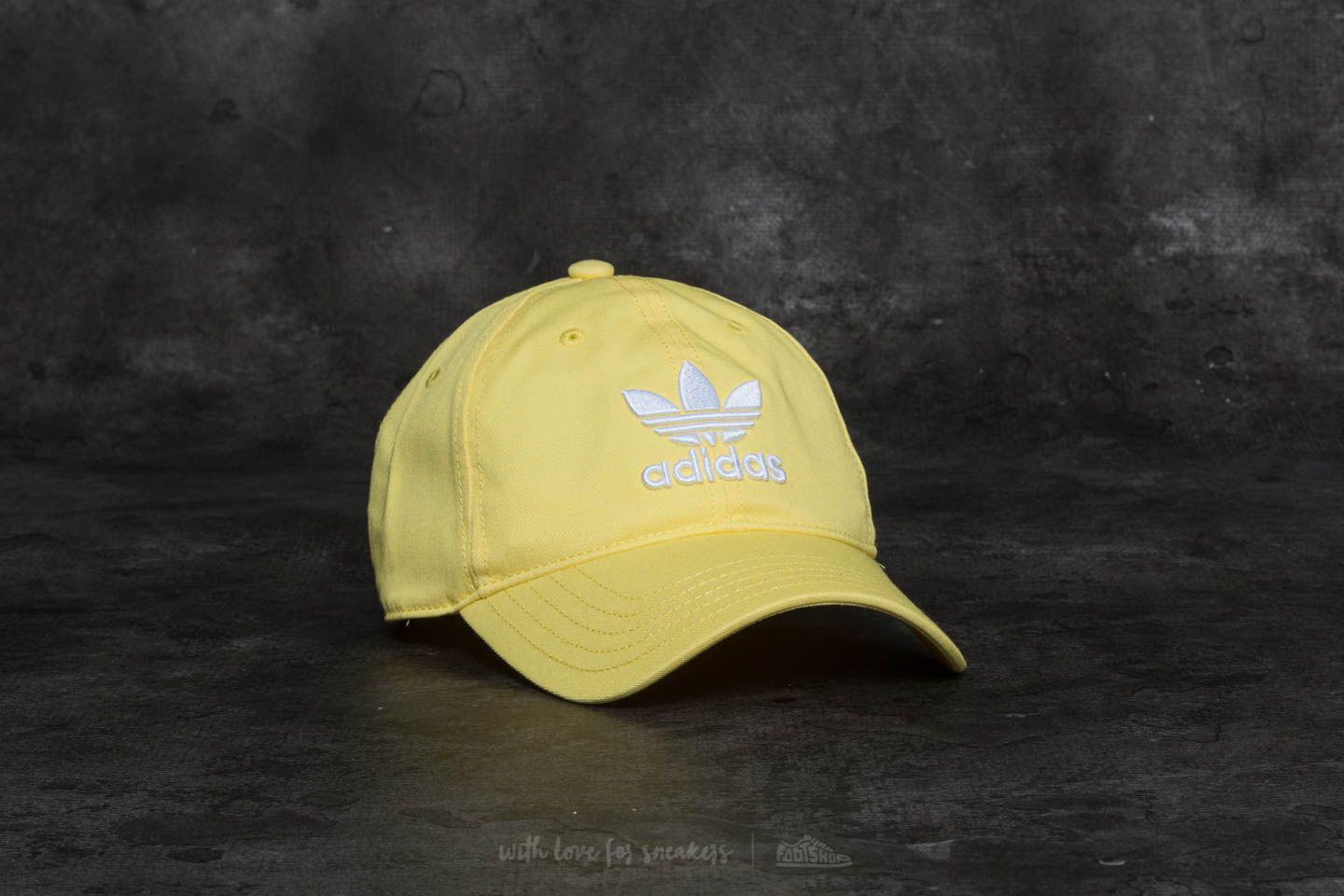 b341f7a8bab Lyst - adidas Originals Adidas Trefoil Cap Intense Lemon  White in ...