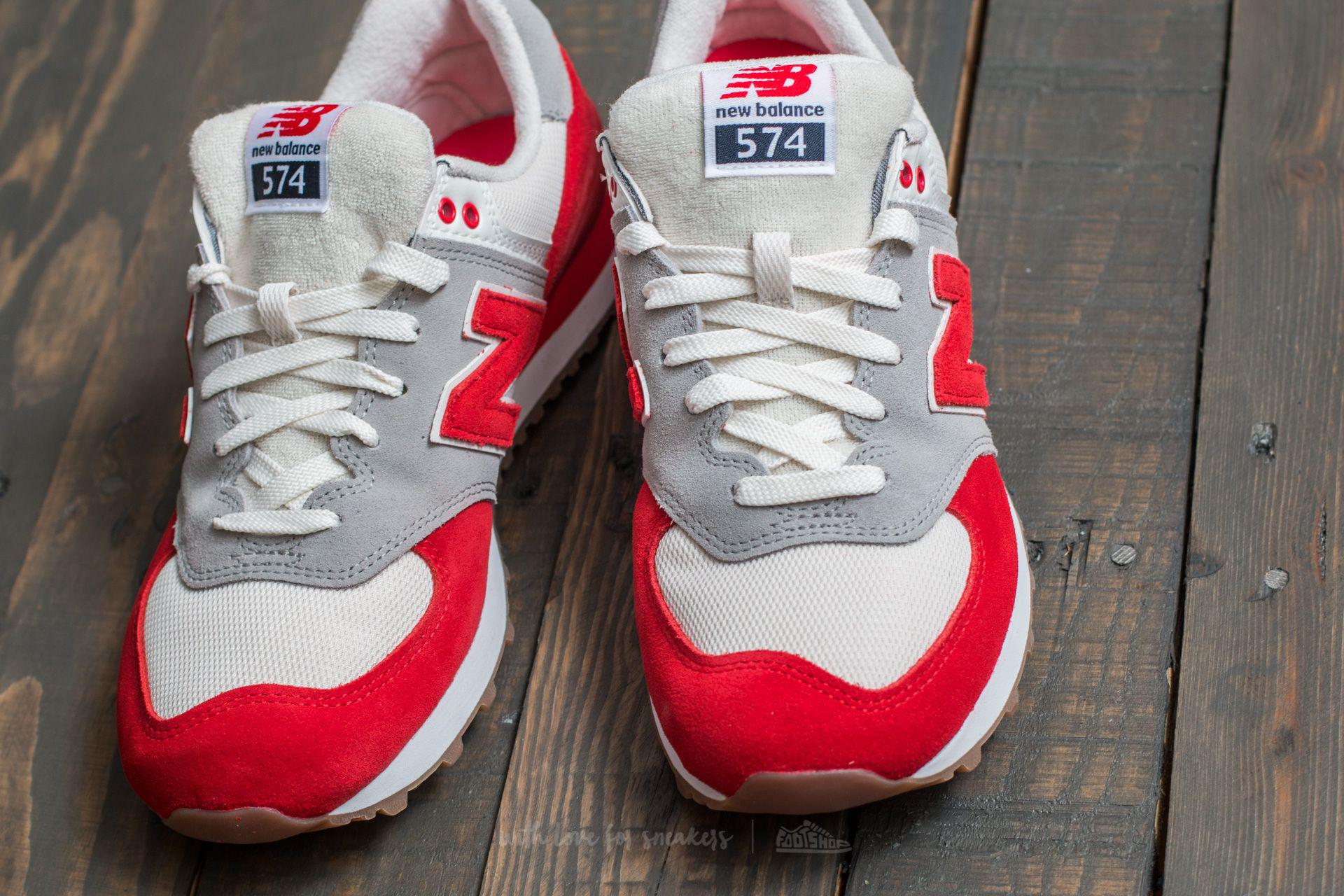 0a4b19680c10 ... Lyst - New Balance 574 Red Silver Mink for Men ...