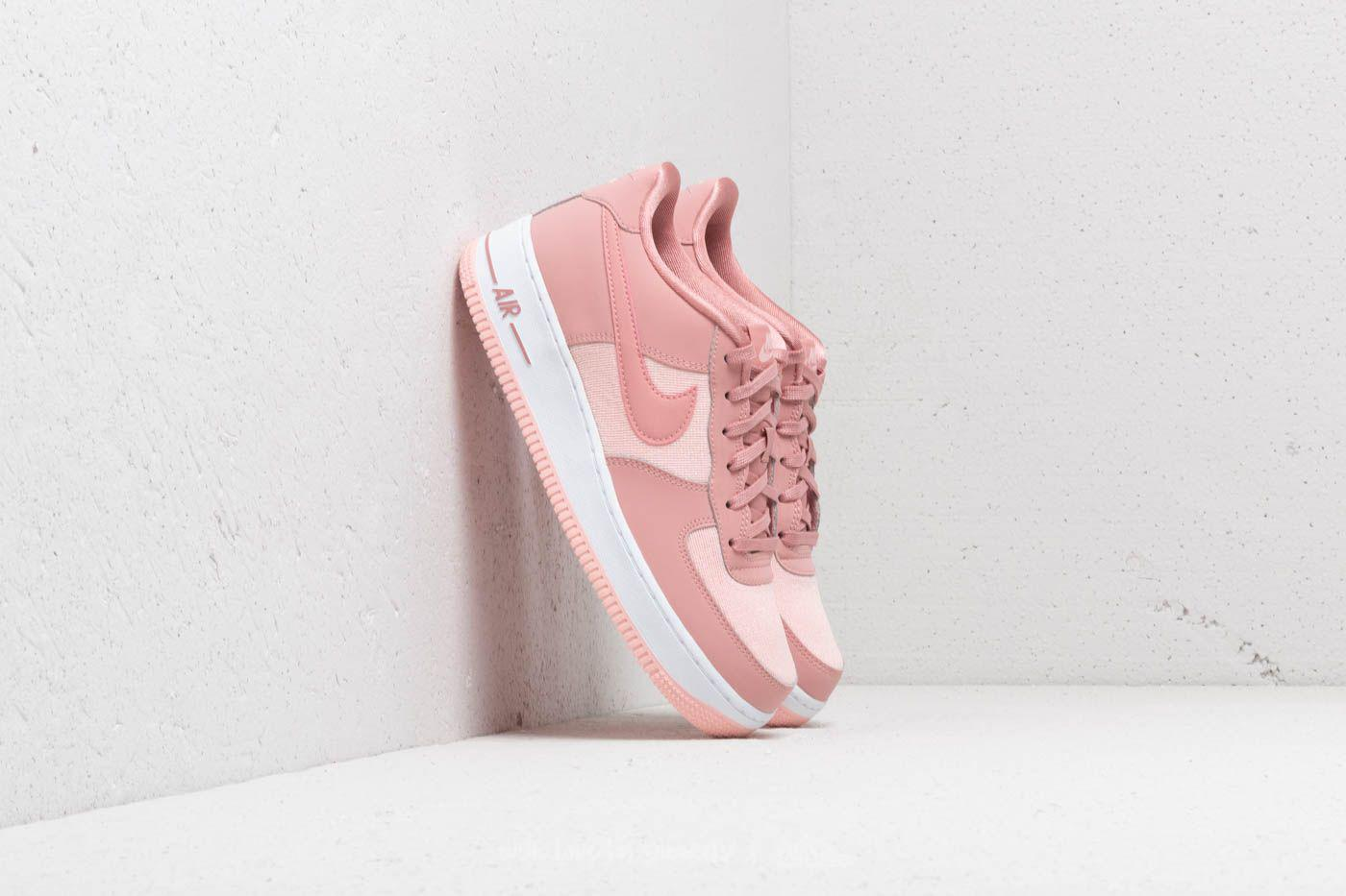 detailed look 681ae c6a9b Lyst - Nike Air Force 1 Lv8 (gs) Rust Pink Rust Pink-storm P
