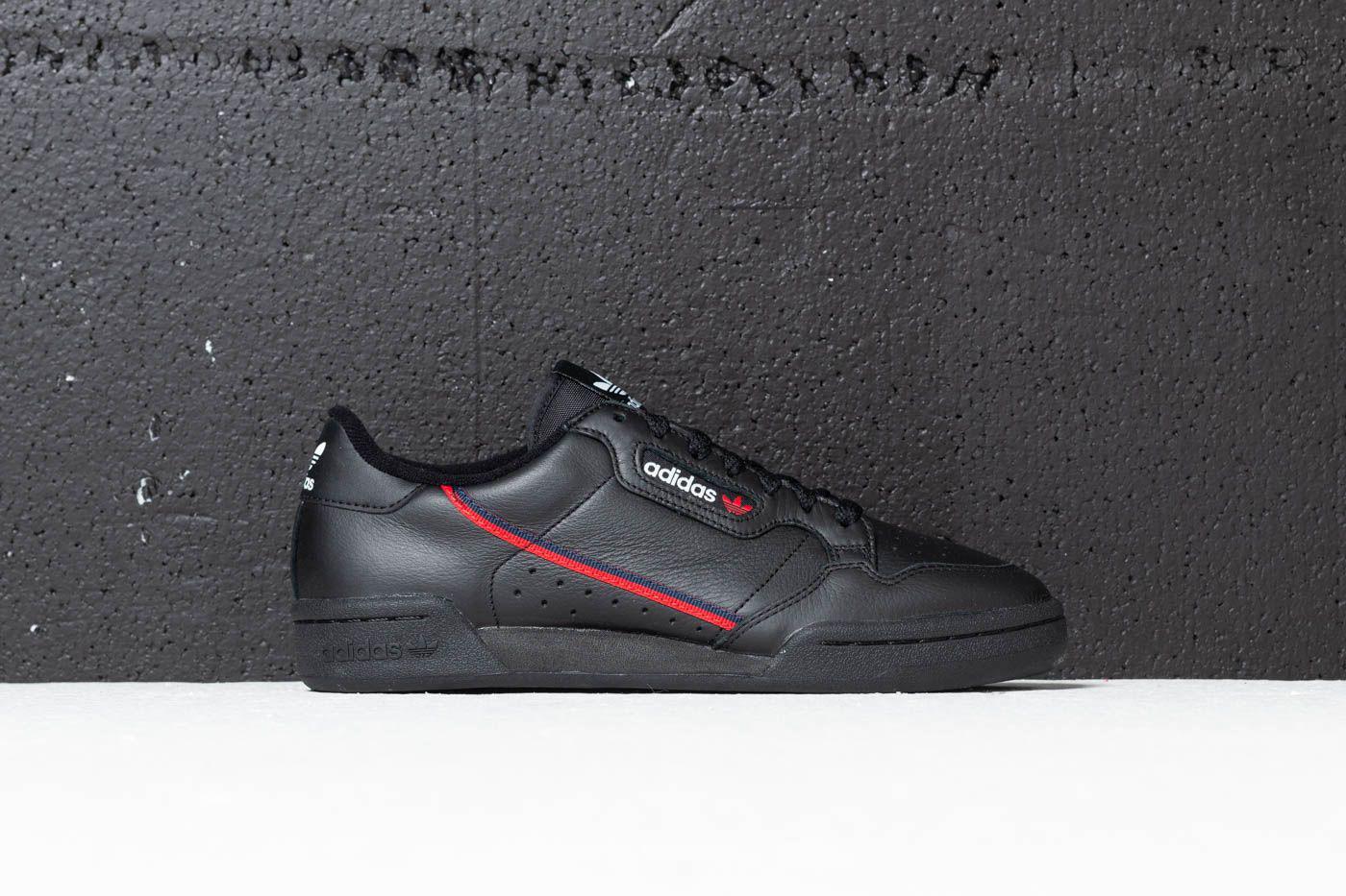 f73d1173d00 Lyst - adidas Originals Adidas Continental 80 Core Black  Scarlet ...