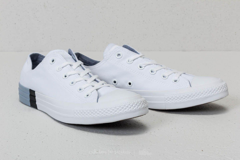 43bc1c0e8f62 Lyst - Converse Chuck Taylor All Star Ox White  Glacier Grey  White ...