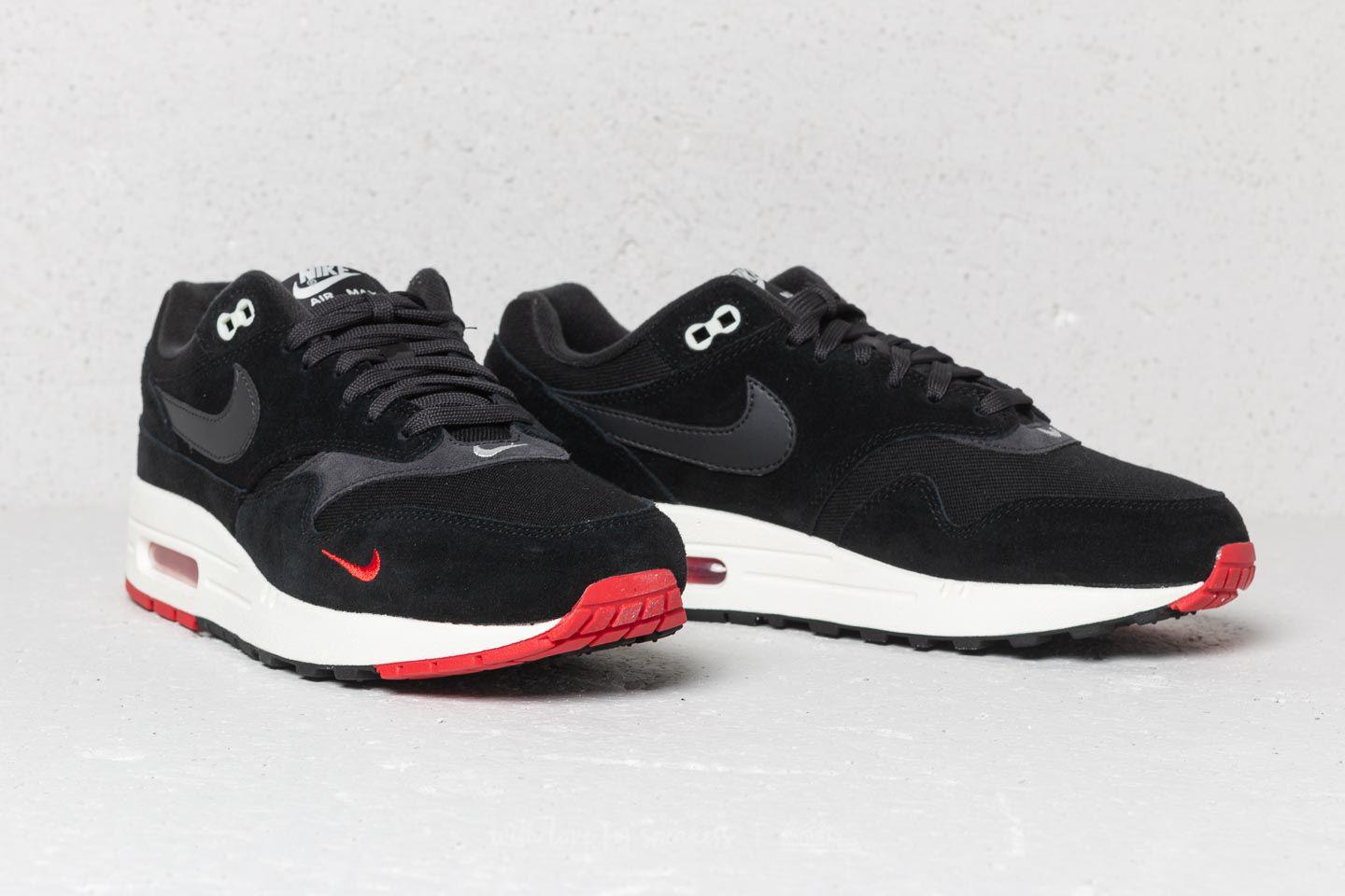 the best attitude 94249 fcaa8 ... sale lyst nike air max 1 premium black oil grey university red in f1015  bfd6c