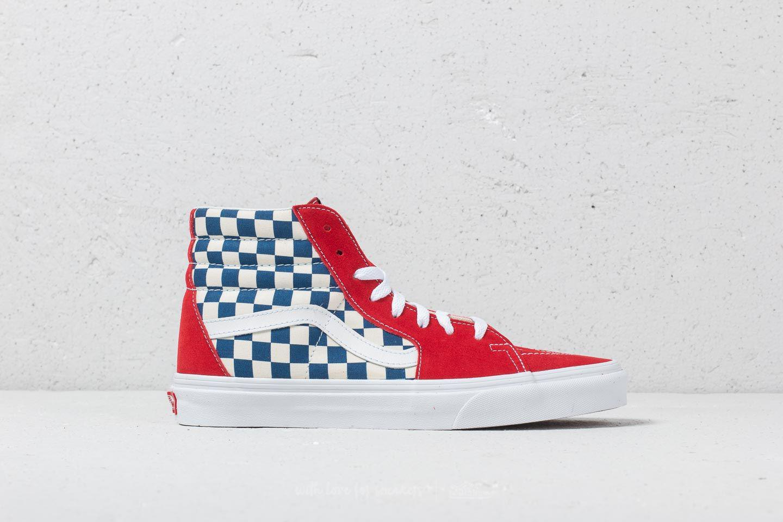 66545b3230869c Lyst - Vans Sk8-hi (bmx Checkerboard) True Blue  Red in Red for Men