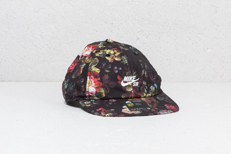 ff07ca5c31bf Lyst - Nike Sb Heritage 86 Cap Black  Floral in Black for Men
