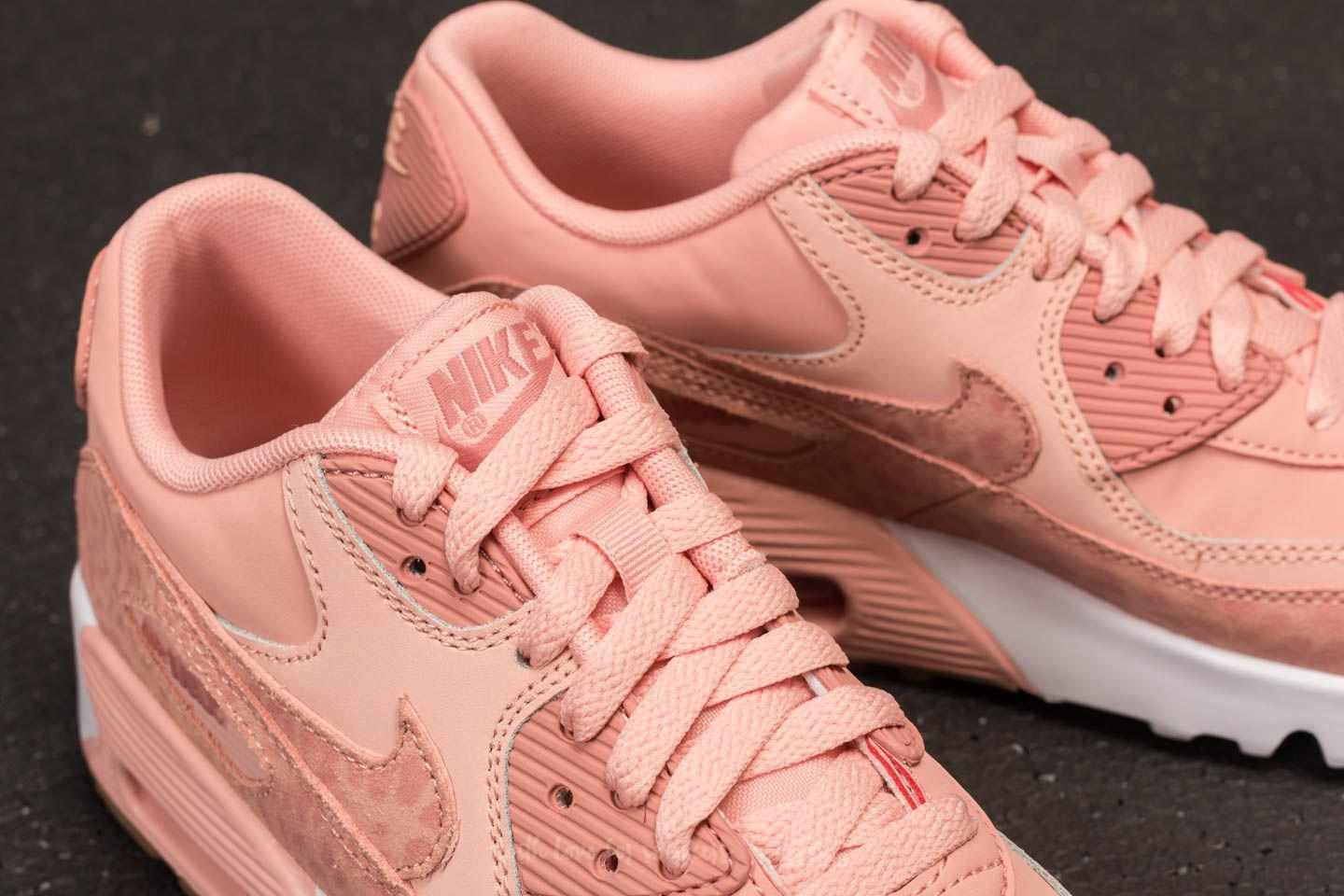 95cba8a3bc59 Lyst - Nike Air Max 90 Leather Se GG Coral Stardust  Rust Pink-white ...
