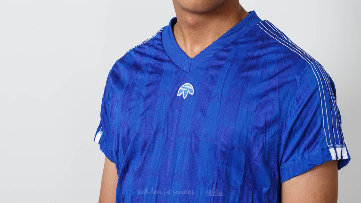 Lyst footshop adidas x alexander wang jersey potere blu / bianco