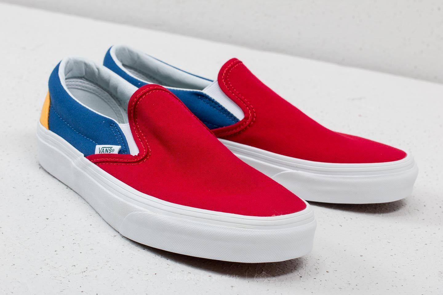 Lyst - Vans Classic Slip-on ( Yacht Club) Red  Blue  Yellow for Men 02328b630