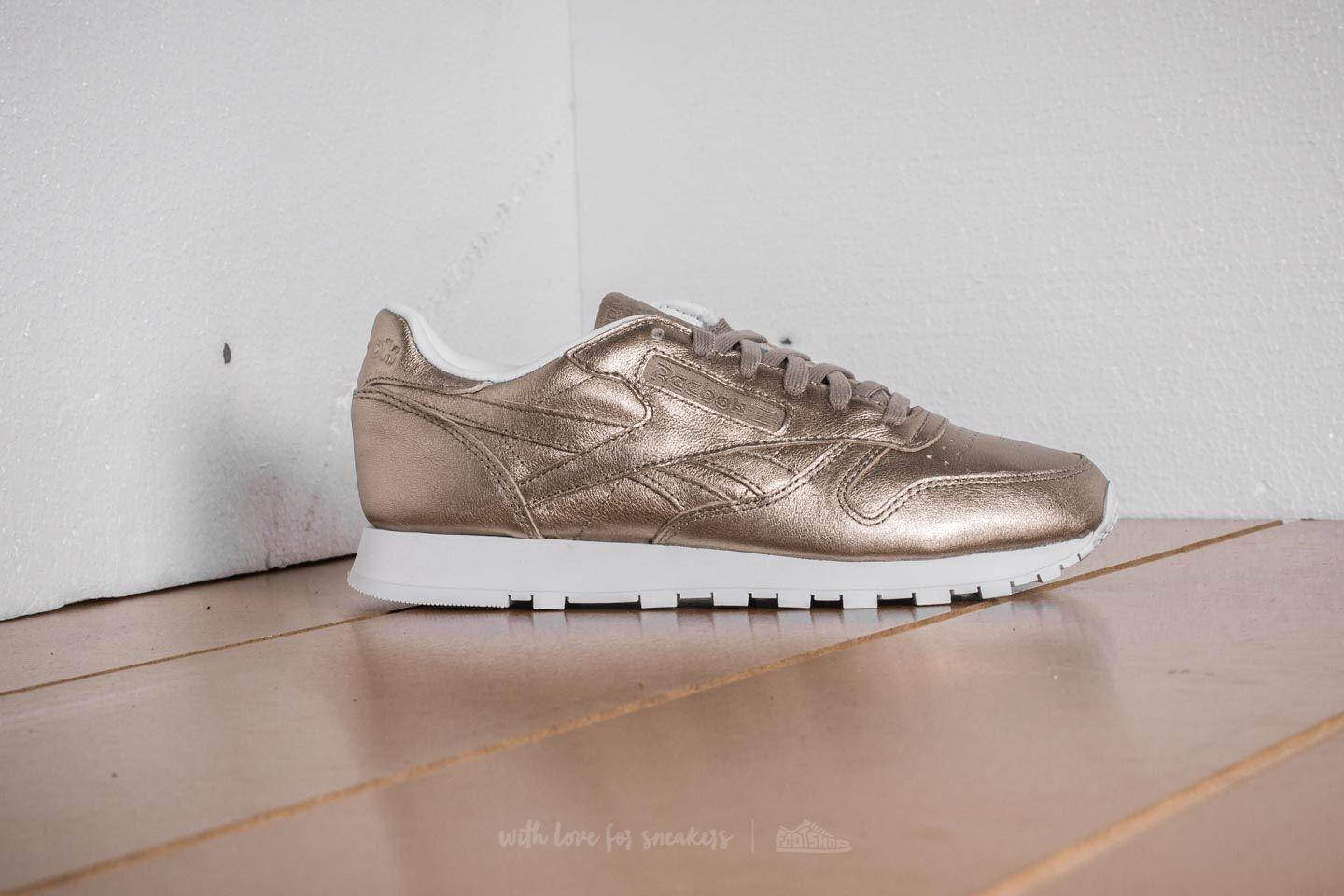 00860c98d504 Lyst - Reebok Leather Melted Metal Pearl Met-grey Gold  White in Gray