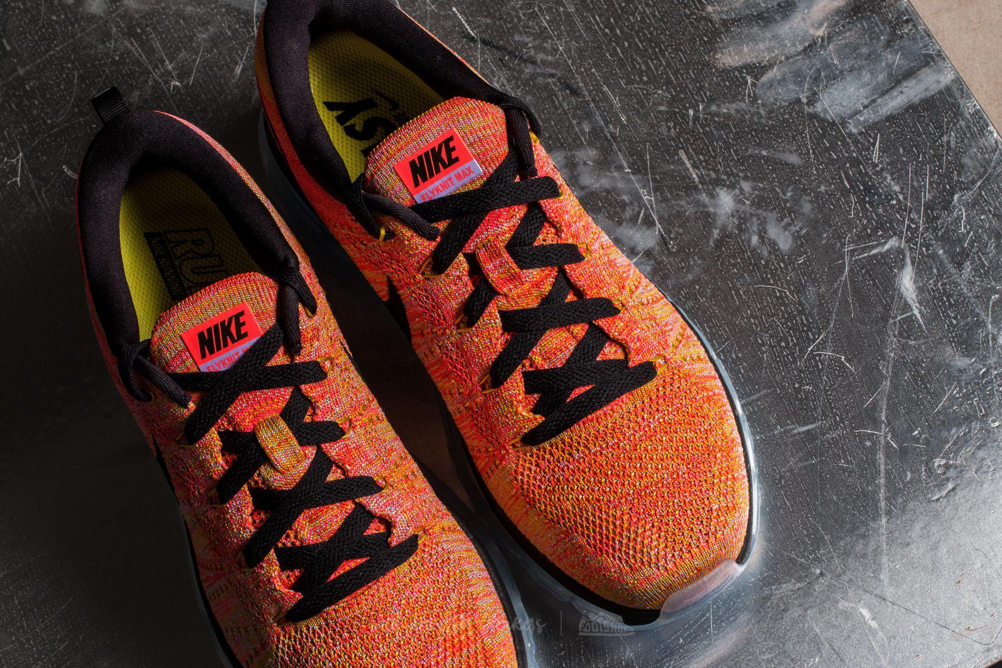 fb8dd6835ba4 Lyst - Nike Wmns Flyknit Max Aluminum  Black-hot Punch in Black for Men